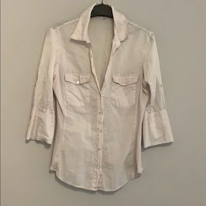 James Perse Tops - Soft pink James Perse button up shirt